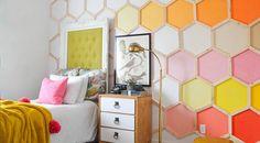 Sechseck Wandmuster Ideen für eine tolle Wandgestaltung - fresHouse
