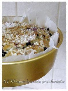 Merjan leivonta ja askartelublogi: Mustikkainen pikapulla Cereal, Oatmeal, Breakfast, Recipes, Food, The Oatmeal, Morning Coffee, Rolled Oats, Eten