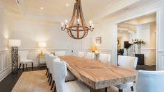 Mesas de madera restaurada via blog White Hat Architecture