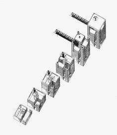 Axo_Casa en Riva San Vitale | Mario Botta