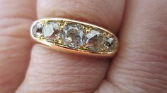 **NEW PICTURES** Erica Grace OMC 5 stone 1.30 ct,J-K   Loupe Troop