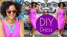 How To Sew A Dress in 5 Minutes | Sewing For Beginners #coloroftheyear #...