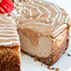 Decadently Healthy Chestnut and Hazelnut Cheesecake... or what I had for breakfast this week!