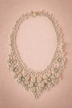 Camellia Crochet Necklace from @BHLDN