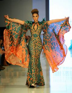Fouad-Sarkis-Collection ~African fashion, Ankara, kitenge, African women dresses, African prints, Braids, Nigerian wedding, Ghanaian fashion, African wedding ~DKK
