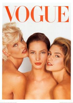 Vogue Cover, June 1991 - Supermodels #90s #supermodels