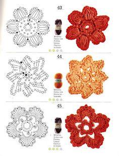 Watch The Video Splendid Crochet a Puff Flower Ideas. Wonderful Crochet a Puff Flower Ideas. Crochet Diy, Freeform Crochet, Crochet Diagram, Crochet Chart, Irish Crochet, Crochet Motif, Crochet Stitches, Crochet Squares, Crochet Puff Flower