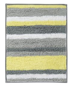This Yellow & Gray Stripz Rug is perfect! #zulilyfinds