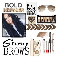 """""""Bold Eye Brows"""" by lfashion-is-my-passionl ❤ liked on Polyvore featuring beauty, Physicians Formula, Urban Outfitters, Graham & Brown, Jane Iredale, NYX, Gucci, BeautyTrend, strongbrows and boldeyebrows"""