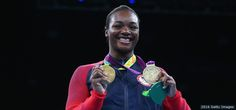 """08.21.16  Gold medal boxer Cleressa Shields: """"I feel like I'm dreaming. Somebody pinch me. This is crazy."""" - #ThankYouRio #Rio2016 http://go.teamusa.org/2bnDsGS"""