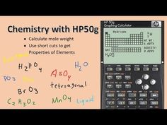 HP50g: Chemistry functions MOLWT and PTPRO. Calculate mole weight