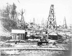 oilfield boiler on Oil Creek  Railroad at Tarr Farm, Oil Creek Valley, 1868