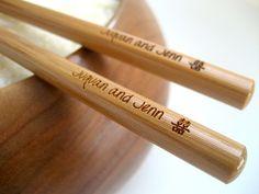adorable personalized chopsticks!