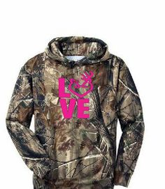 Browning LOVE Camo Hoodie.  Available in many colors :)
