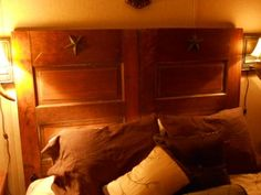 Headboard made out of an old door