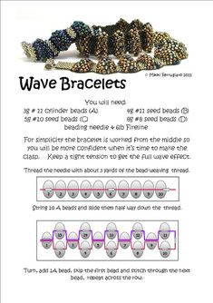 Bead Mavens: Tutorial Wave Bracelets... follow the link for full tutorial