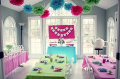 American girl party: like the idea of doll cupcake decorating