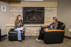 #Fall is the perfect time to get some studying done in front of the #fireplace. #Alvernia has several in residence halls and the Campus Commons!
