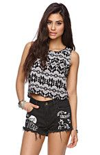 Button Back Cropped Tank