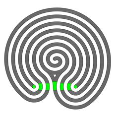 The enlarged Indian Labyrinth