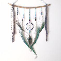 Dream Catcher muur opknoping Peacock Feather door InspiredSoulShop