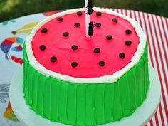 Watermelon Cake....great dessert for a summer BBQ.