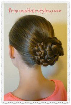 Easy and quick triple braid bun tutorial
