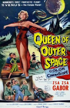 High quality reproduction movie poster for Queen of Outer Space starring Zsa Zsa Gabor, Eric Fleming and Dave Willock from 1958. 11 x 17 high quality reproduction on card stock.