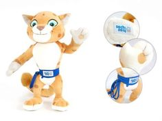Leopard Toy Doll Soft Plush Souvenir Genuine Official Mascot Winter Olympic Games Russia Sochi 2014 28cm 1102in -- Details can be found by clicking on the image.