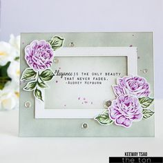 Create beautiful layered bouquets and centerpieces for your papercrafts with our Fresh Cut Roses stamp set. This set comes with a printed layering guide. - 6x8 inches - 27 stamps - Made of photopolyme