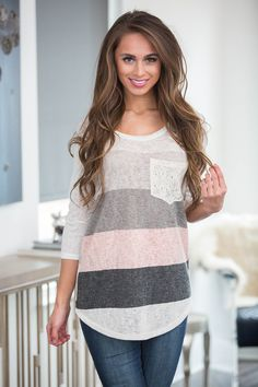 b13f9682ad6815 Fall For Your Love Striped Pocket Blouse - The Pink Lily Fall Fashion  Trends