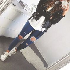 Denim fashion style contemporary street urban outfitters fashion style