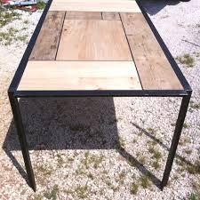 Картинки по запросу tavolo in ferro brunito e legno
