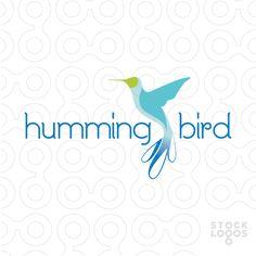 Exclusive Customizable Logo For Sale: Hummingbird   StockLogos.com