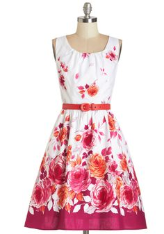 This fit-and-flare floral puts a spell on us!