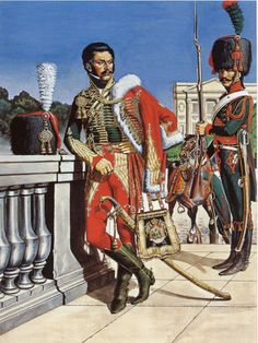 officier chasseurs à cheval de la Garde Military Art, Military History, Military Fashion, Warrior Paint, French Army, French Revolution, Napoleonic Wars, Kaiser, Toy Soldiers