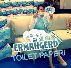 Because you know how much a celiac can love toilet paper! #toiletpaper #whitecloud #humor #celiac #glutenfree