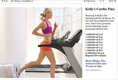 This treadmill cardio plan is AWESOME! The intervals really get your heart rate up with recovery time.