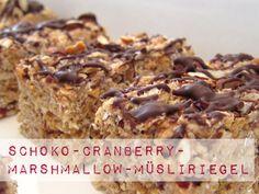 Rezept: Schoko-Cranberry-Marshmallow-Müsliriegel