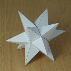 Paper model great rhombihexacron