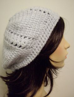 Women's Bonnie Beret Hat for Winter in Acrylic Bluish by keibers, $30.00