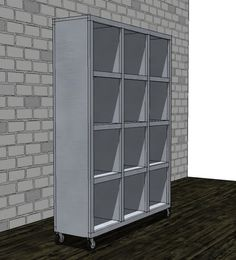 Ana White | Build a Rolling Room Divider Cubbies | Free and Easy DIY Project and Furniture Plans