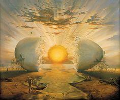"""""""Sunrise by the ocean"""", de Vladimir Kush"""
