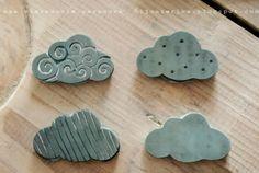 Sellos de nubes, por Ana de 613materika.