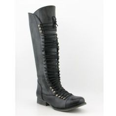 Steve Madden Genneral Boots Knee Shoes Black Womens, $74.99 | www.findbuy.co