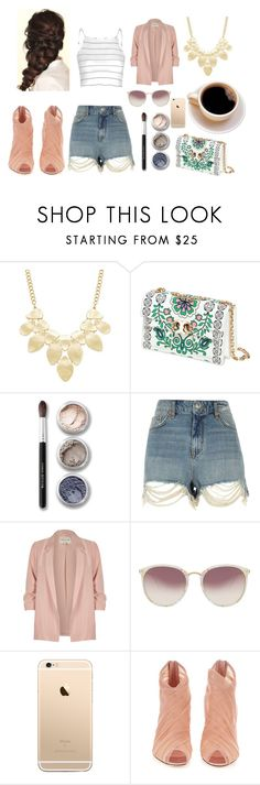 """#167"" by natalia-farias ❤ liked on Polyvore featuring INC International Concepts, Tory Burch, Bare Escentuals, River Island, Linda Farrow, Dolce&Gabbana, Glamorous and Disney"