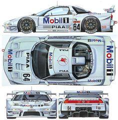 My fav JGTC racer - Acura NSX GT 500 #Acura #JDM #Rvinyl ========================== http://www.rvinyl.com/Acura-Accessories.html
