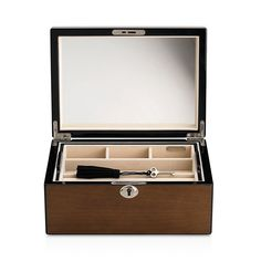 175.00$  Buy now - http://vigtd.justgood.pw/vig/item.php?t=nablzj30850 - Reed & Barton Natural Instinct Modern Lines Latte Jewelry Box