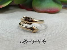 Arrow Ring, Sterling Silver Arrow Ring, Adjustable Arrow Ring, Arrow Jewelry, Archery Jewelry, Sterling Silver Ring