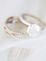 love the band. I think simple and dainty is by far the prettiest way to go.